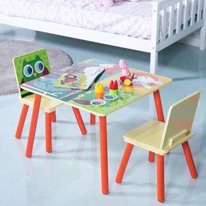 TABLE ET CHAISE Ensemble Table et 2 Chaises Enfant en MDF Meuble B