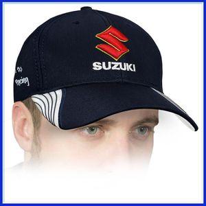 CASQUETTE Suzuki Casquette de Baseball 3D BRODE Logo Bleu Ré