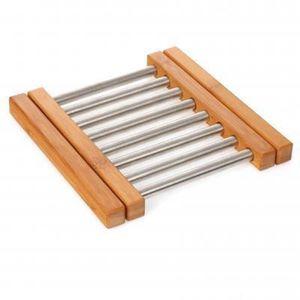 DESSOUS DE PLAT  Lot de 2 Dessous de Plat extensible en Bambou et i
