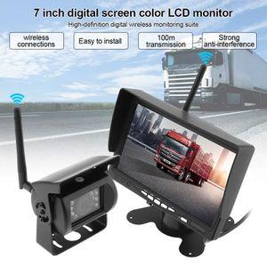 RADAR DE RECUL 7 pouces sans fil Système de caméra de recul pour