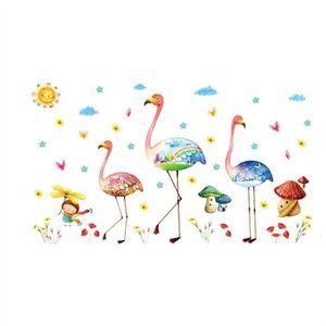 STICKERS Stickers muraux Fantastique Flamingo Stickers DIY