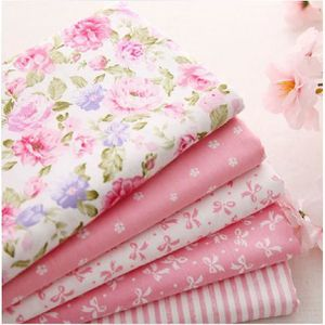 TISSU 5pcs 40cm * 50cm rose 100% Tissu en coton pour la