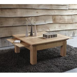 Table Basse Carree Chene Massif Stockholm 90cm Achat Vente