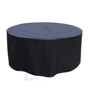 Housse table ronde 250 cm renforcée grise - Achat / Vente ...
