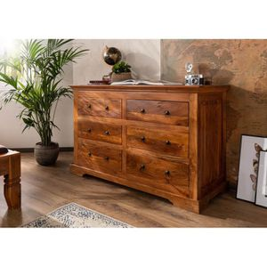 COMMODE DE CHAMBRE Commode style colonial, Bois Massif D'Acacia, Coul