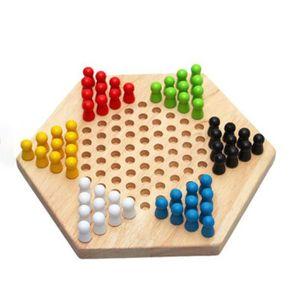 JEU CONSOLE ÉDUCATIVE Enfants Éducation précoce Bois Dames Hexagon tradi