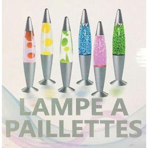 LAMPE A POSER 1 LAMPE LAVE DISCO PAILLETTES BULLES 35 CM LUMINEU
