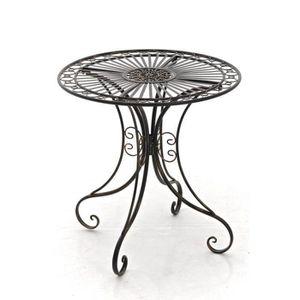 TABLE DE JARDIN  CLP Gracieuse Table de jardin en fer forgé HARI, a