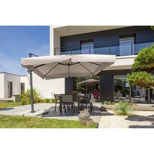 PARASOL Parasol aluminium carré déporté 3x3m - Gris