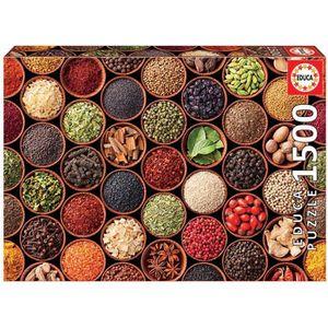 PUZZLE EDUCA Puzzle 1500 Épices Et Condiments