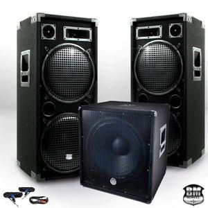 JEUX DE LUMIERE Pack Sonorisation BM SONIC BMX-18215 3200W Caisson