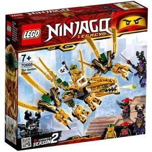 ASSEMBLAGE CONSTRUCTION LEGO® NINJAGO® 70666 Le Dragon D'Or