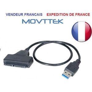 CÂBLE INFORMATIQUE Movttek® ADAPTATEUR USB 3.0 / SATA 2.5 SSD-HDD AUT