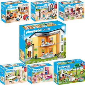 Playmobil maison moderne set 9266 9267 9268 9269 9270 for Salle a manger playmobil city life