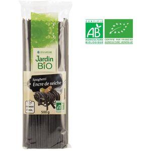 PÂTES ALIMENTAIRES JARDIN BIO Spaghetti à l'encre de seiche bio - 500