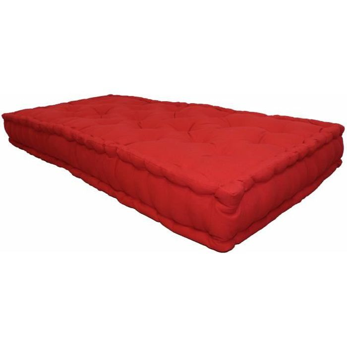 matelas de sol double 60x120x15cm rouge achat vente coussin cdiscount. Black Bedroom Furniture Sets. Home Design Ideas