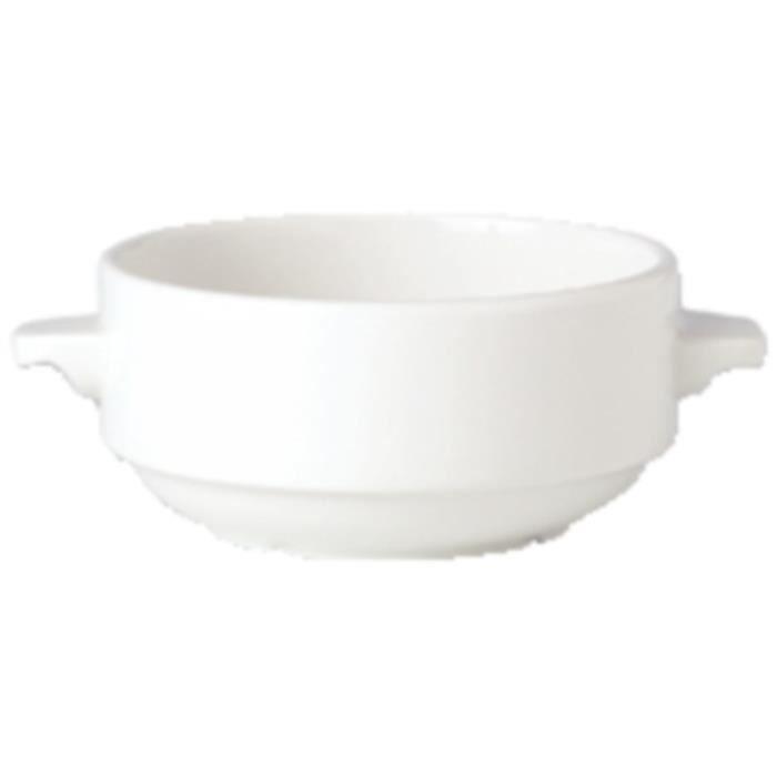 Bols à soupe 285ml avec oreilles empilables Steelite Simplicity White