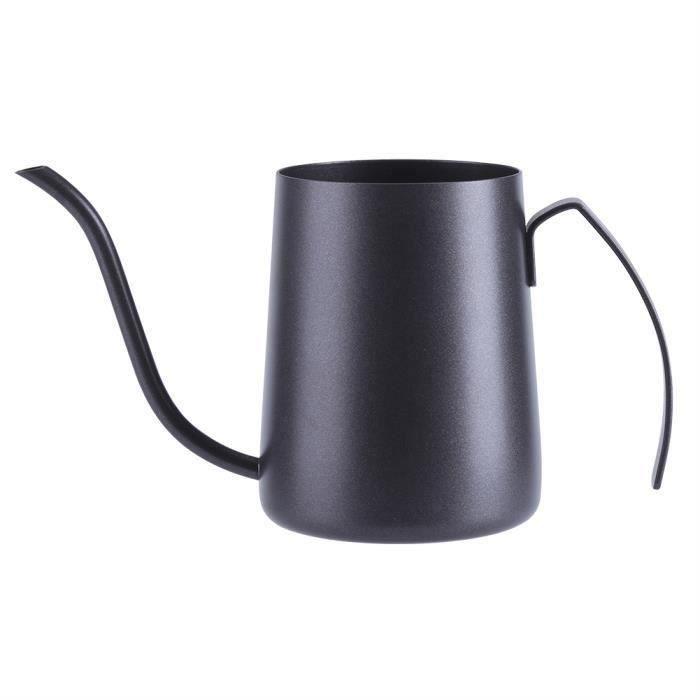 350ML Cafetière à bec long Bouilloire à café en acier - Noir Em21650