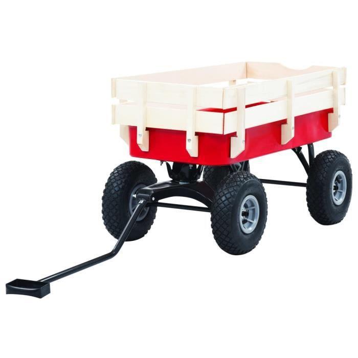 ��4632Bon - Chariot à main avec poignées Chariot de Jardin Brouette de jardin - Remorque de transport à Main extérieur-Diable de tra