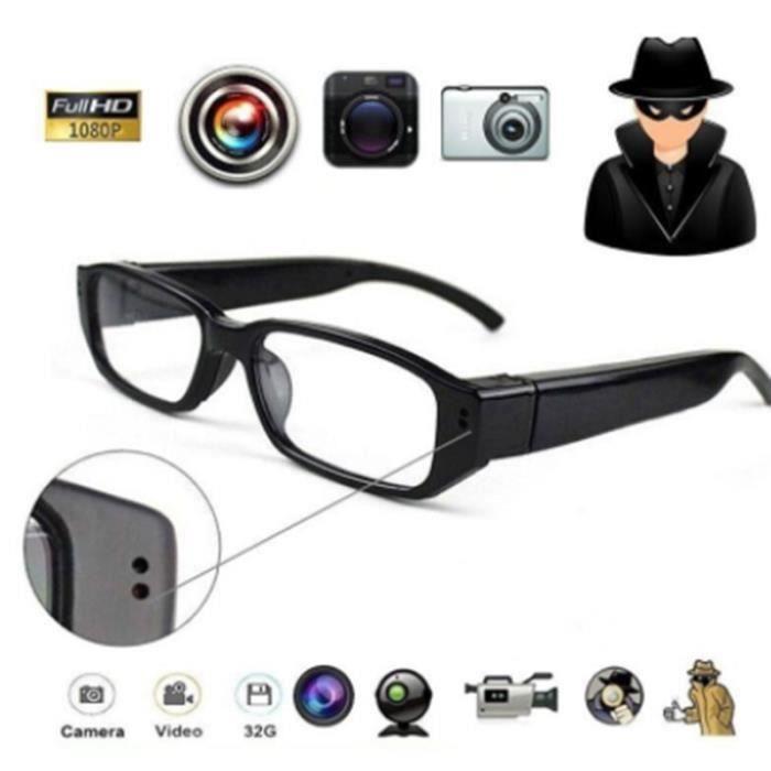 1080p hd mini caméra espion lunettes lunettes de caméra cachées sports de plein air espion caméra 8 Go