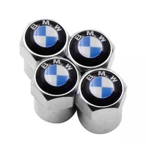 Bouchon de valve en métal logo BMW ( Chrome )