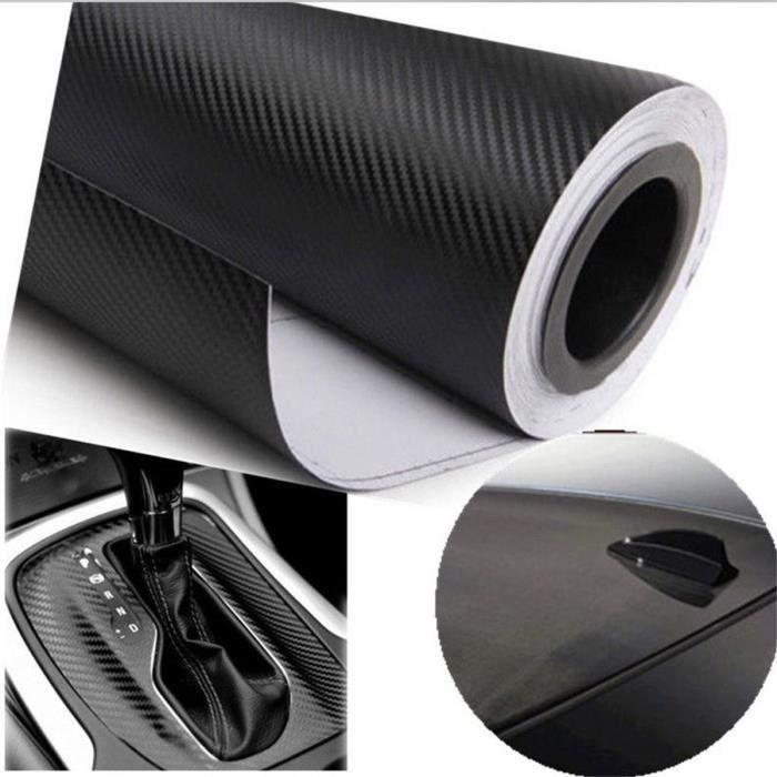3d autocollant de voiture film de voiture de vinyle de fibre de carbone sticker noir