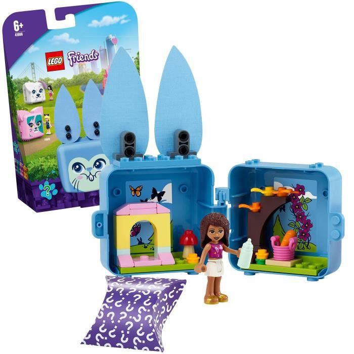 LEGO® Friends 41666 Le cube lapin d'Andréa Jouet sur le thème des animaux incluant une figurine Andréa, décoration chambre