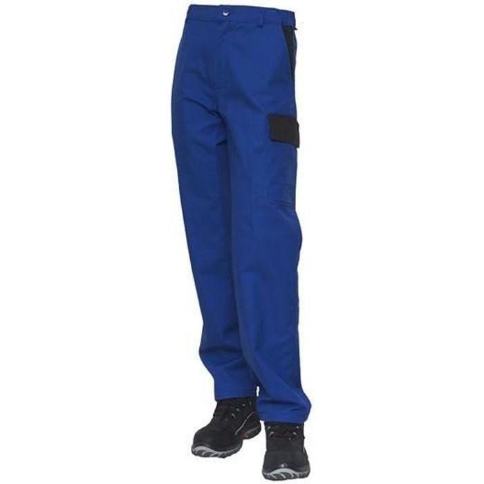 Pantalon bleu de travail bicolore coton 300gr/m²