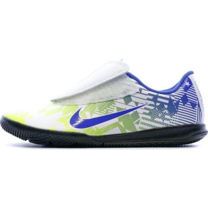 Chaussures de foot blanc/bleu/jaune enfant Nike Vapor 13 Club IN