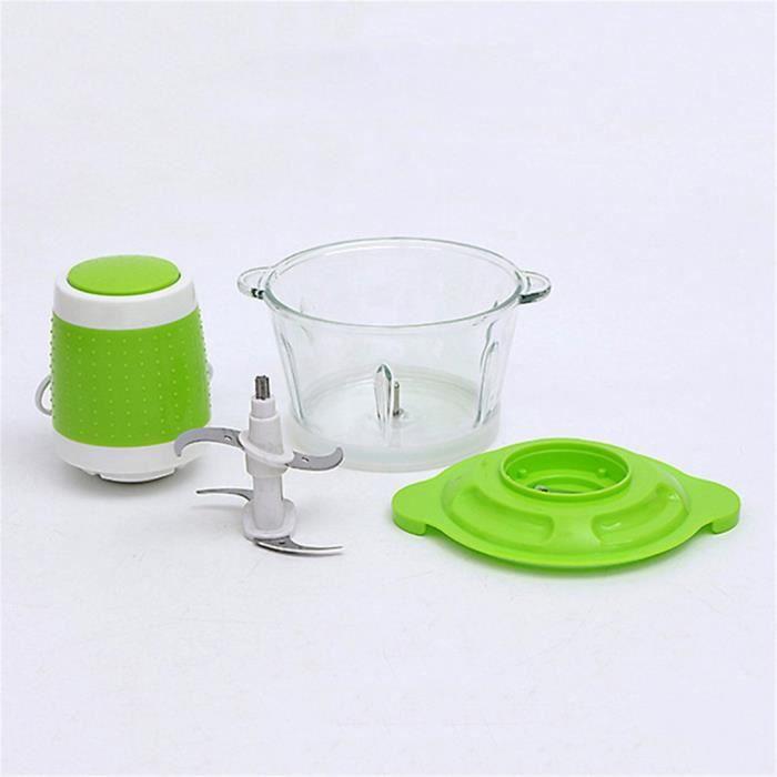 Hachoir électrique puissant automatique de ménage de robot culinaire de hachoir à viande 2L, vert