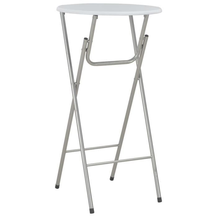Table de bar Tables pliantes jardin cuisine Blanc 60x112 cm MDF
