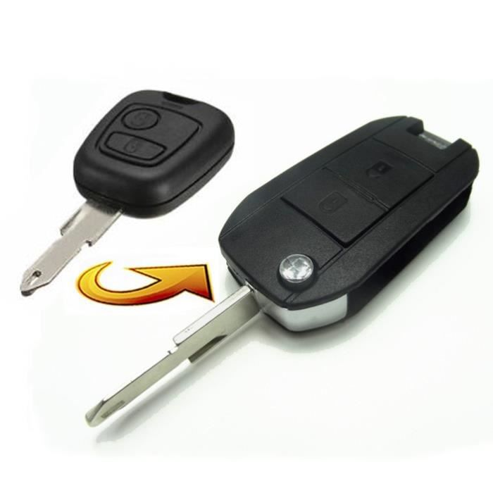 KIT DE TRANSFORMATION CLE PLIP CITROEN C1 C2 C3 C4 C5 C6 C8 2 boutons conversion @Pro-Plip