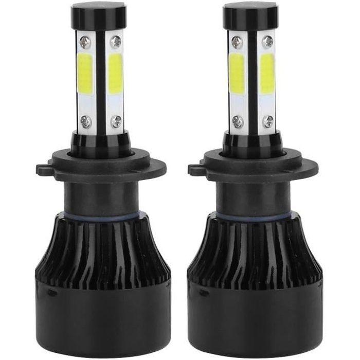 VINGVO phare à LED 2pcs véhicule X7-COB 6500K H7 phare LED haute avant ampoule en aluminium ABS