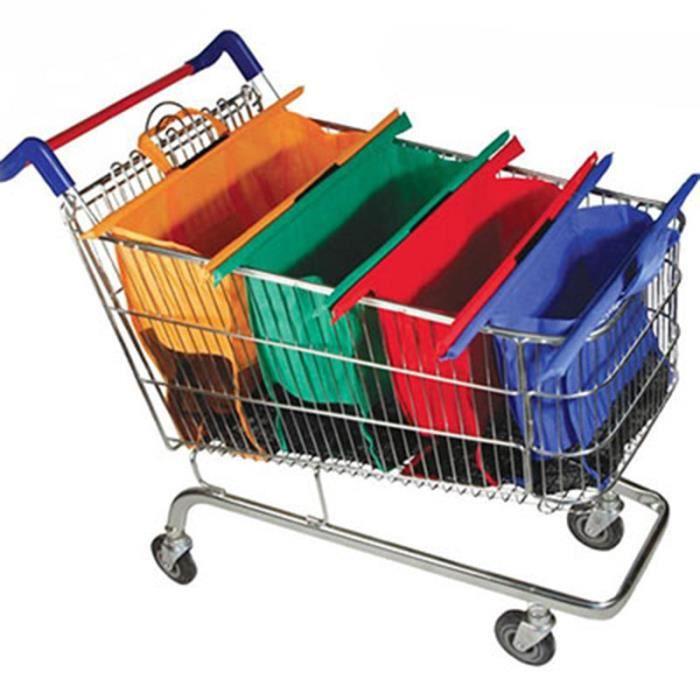Uuouu Lot de 20/couleurs assorties non tiss/é Sacs d/épicerie r/éutilisable Sacs /à provisions pratique Sac fourre-tout