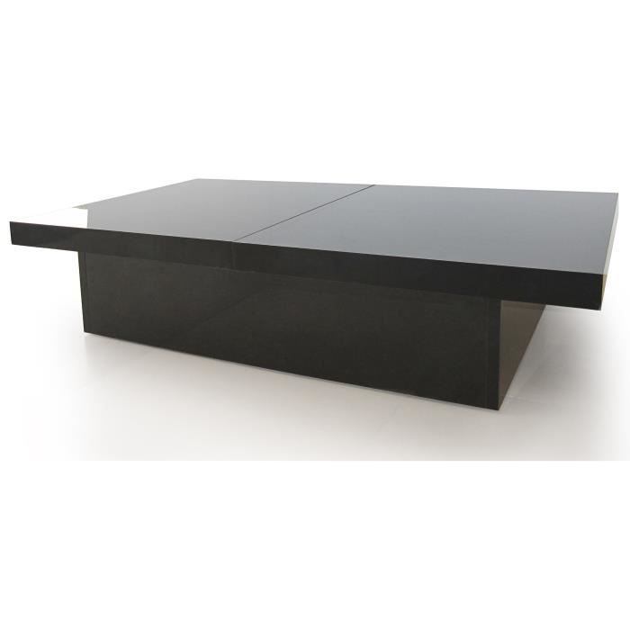 tango table basse laqu e noir tiroirs coulissants achat. Black Bedroom Furniture Sets. Home Design Ideas