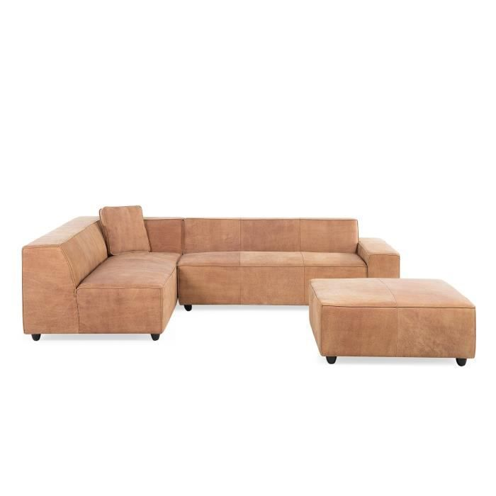 canap d 39 angle canap en cuir vintage cognac sofa adam d achat vente canap sofa. Black Bedroom Furniture Sets. Home Design Ideas