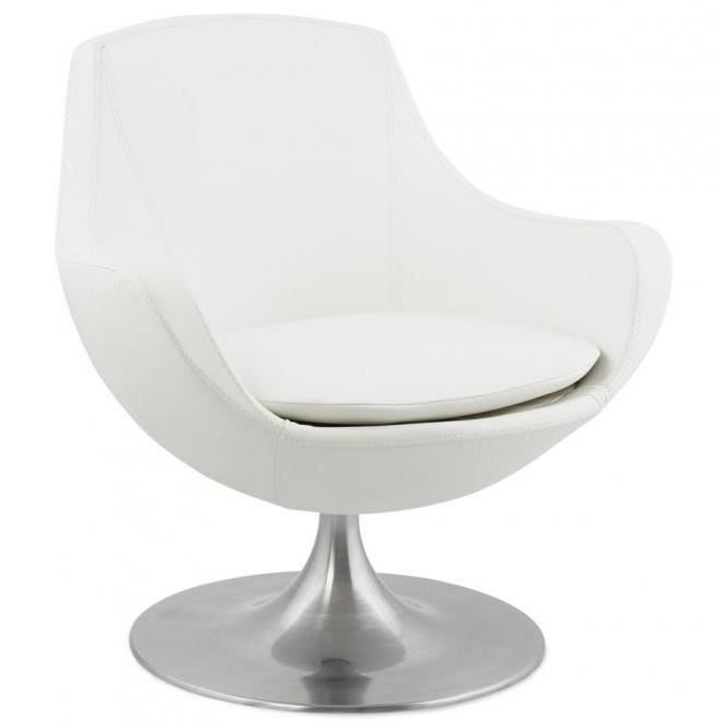 fauteuil blanc raoul achat vente fauteuil cdiscount. Black Bedroom Furniture Sets. Home Design Ideas