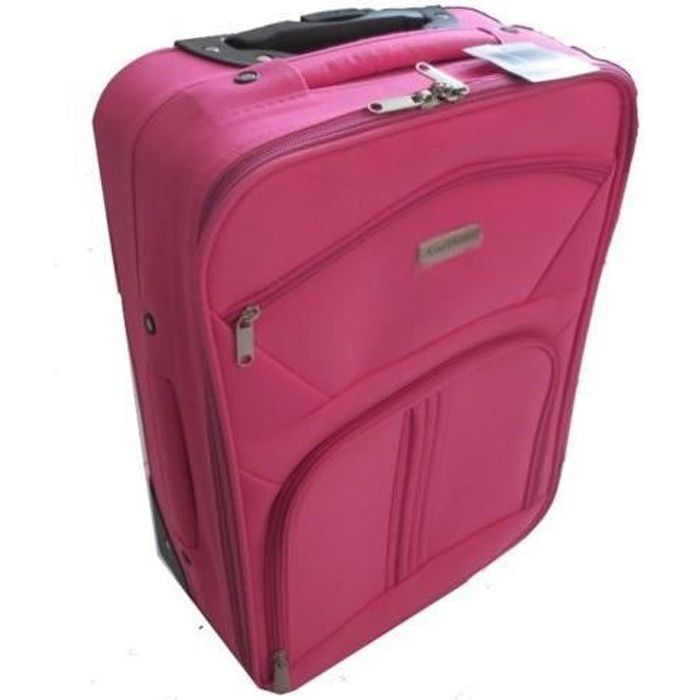 valise femme fille roues cabine avion roulette sac rose achat vente valise bagage. Black Bedroom Furniture Sets. Home Design Ideas