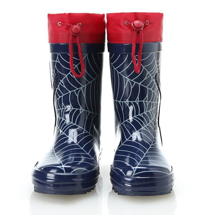bottes de pluie gar on spiderman imprim bleu achat vente botte cdiscount. Black Bedroom Furniture Sets. Home Design Ideas