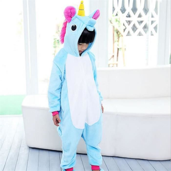 licorne pyjamas top soie enfant qualit sup rieure animaux manches longues cosplay flanelle. Black Bedroom Furniture Sets. Home Design Ideas