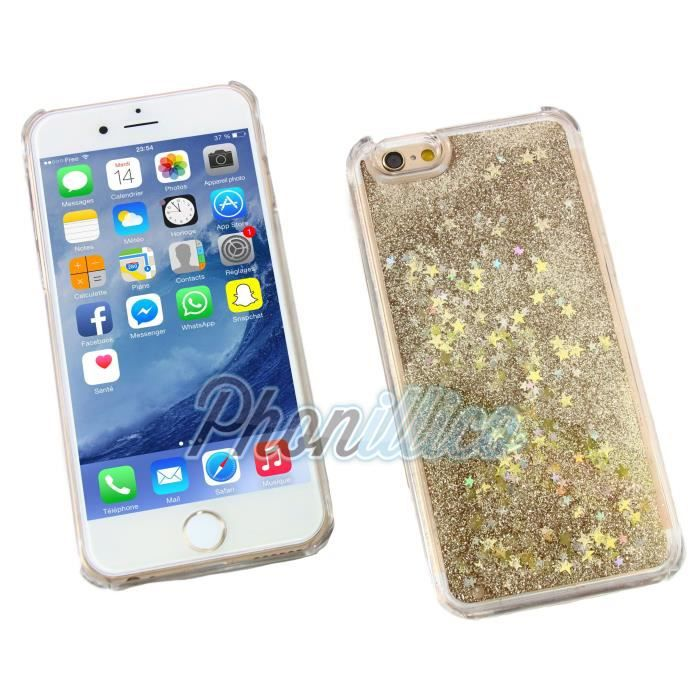 coque iphone 5 liquide paillette