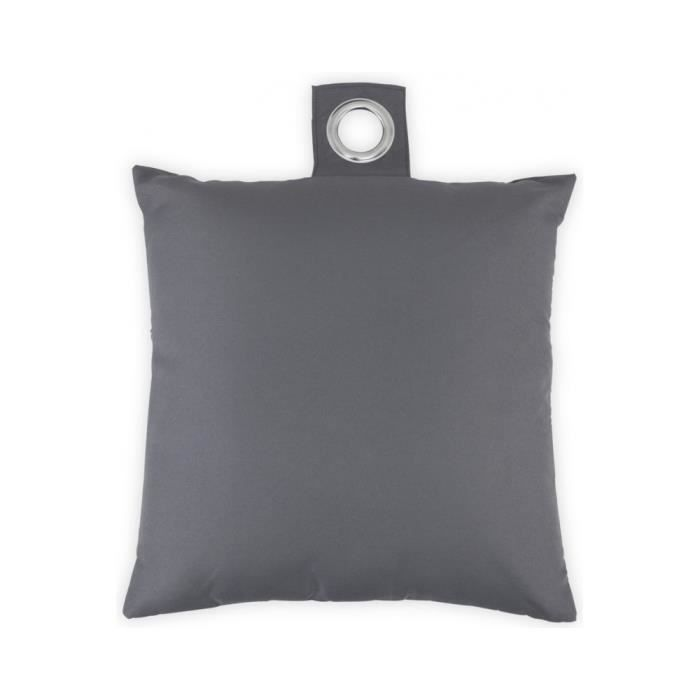 coussin 40x40 cm dehoussable gris anthracite achat. Black Bedroom Furniture Sets. Home Design Ideas