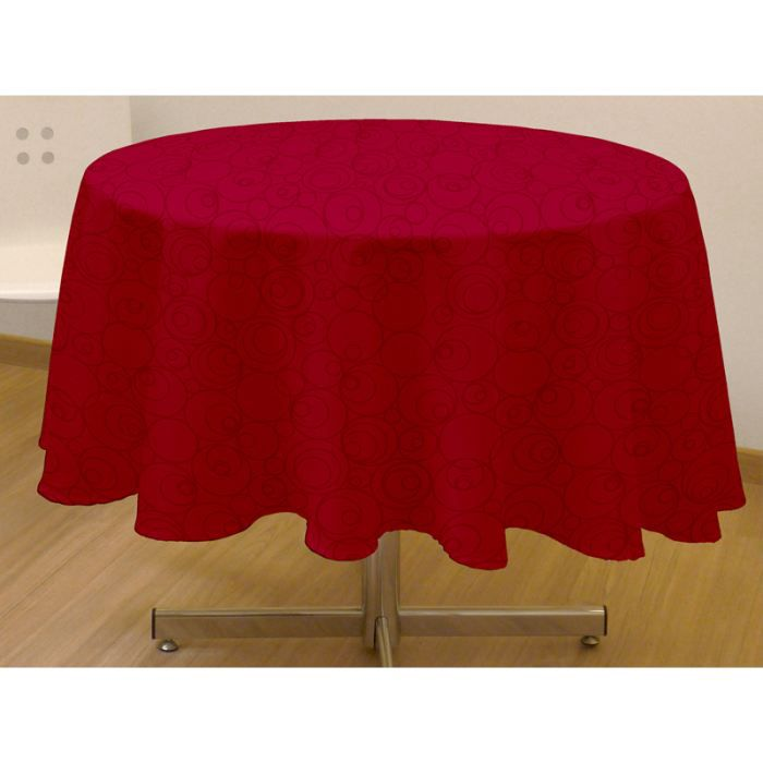 nappe ronde anti tache espace rouge cm achat. Black Bedroom Furniture Sets. Home Design Ideas