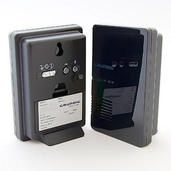 Grundig Sonnerie de Porte sans Fil avec LED 3 Options de Sonnerie au Choix et 36 tonalit/és