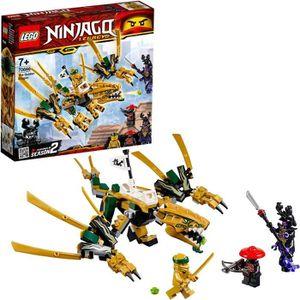 Lego Ninjago personnage Kai Gold rouge Ninja avec poing de feu Fist Fire Spinjitzu