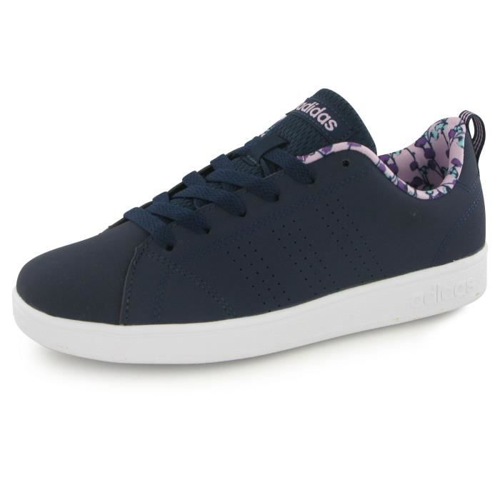 Adidas Neo Advantage Clean Velcro bleu, baskets mode mixte