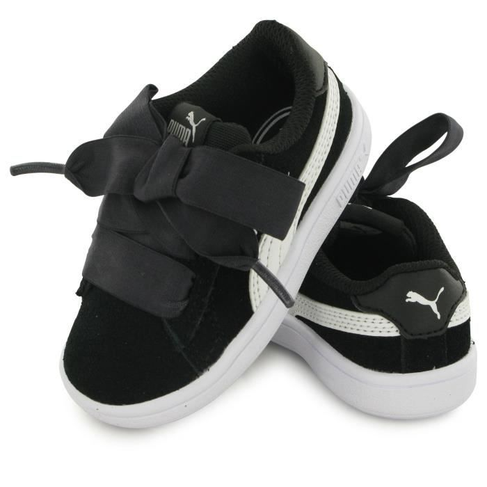 Puma Bb Smash Ribbon noir, baskets mode enfant