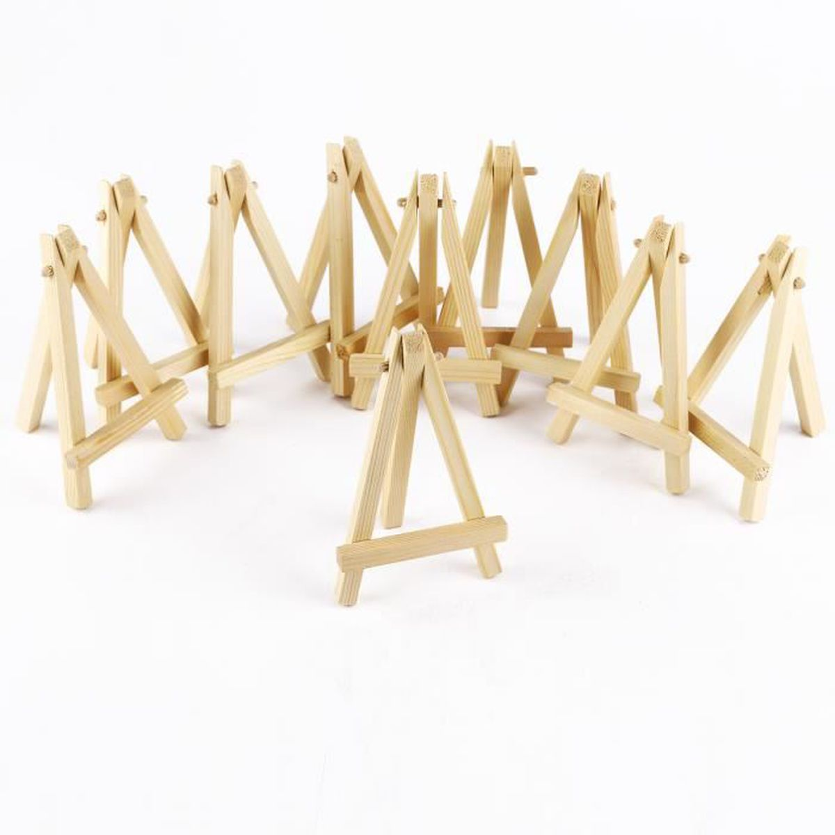 10pcs mini chevalet tr pied en bois 12 x 7cm support photo carte mariage f te table achat Mini chevalet de table