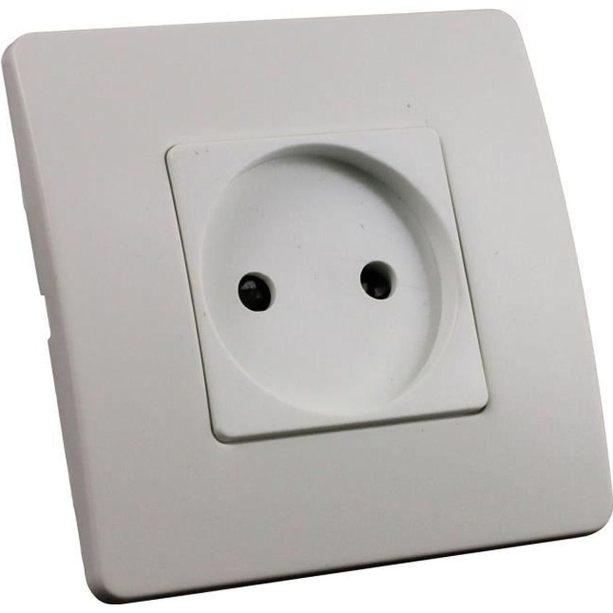 FONTINI GARBY Prise sans terre Porcelaine Blanche 16A-250V R/éf 30205173