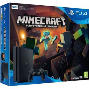 CONSOLE PS4 Nouvelle PS4 Slim 500 Go Minecraft (Voucher)